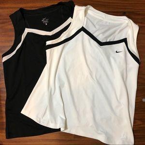 Lot of 2 Nike dri-fit tanks black white size 2x